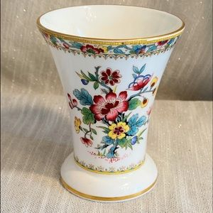 "Ming Rose 4"" Posey Pot Spill Vase Coalport China"